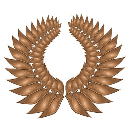 bronze wreath on a solid white background Stock Photo - 5009074