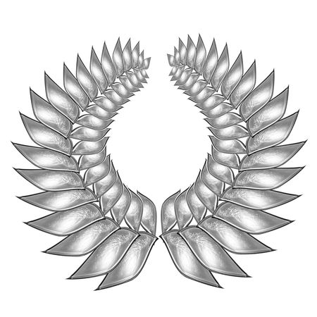 isolated silver wreath on a solid white background Stock Photo - 5009263