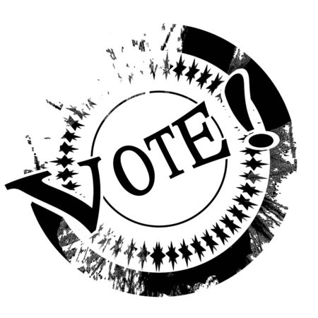 black stamp with vote written on it Stock Photo - 5009153