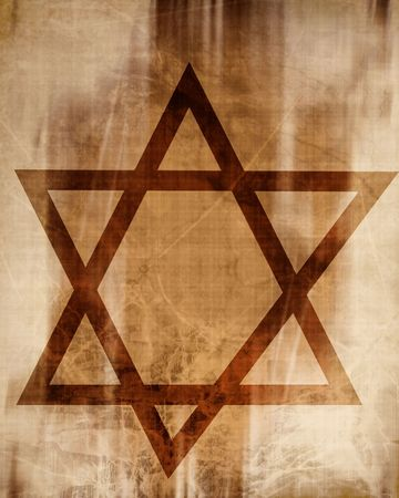 star of david on a paper background Stock Photo - 5160683