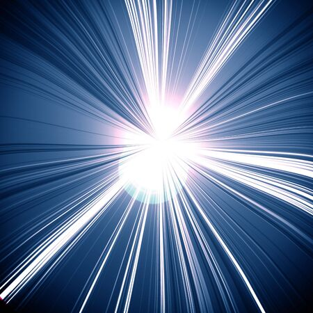 intense: intense starlight on a dark blue background Stock Photo