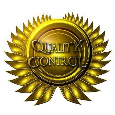 regulated: gold medal with quality control written in it