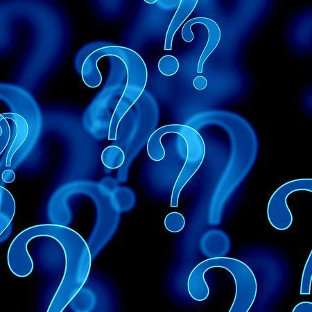 blue question marks on a dark background Фото со стока