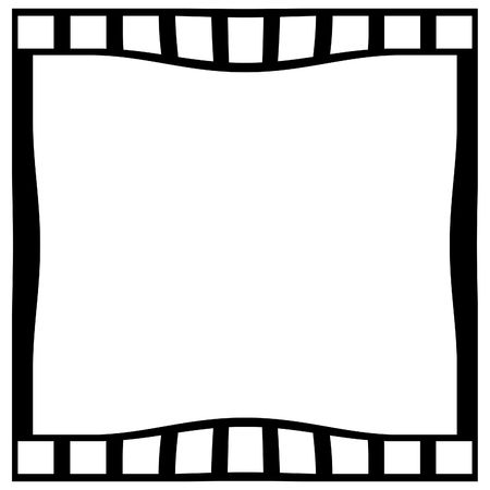 emulsion: blank film strip on a white background