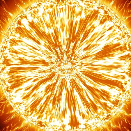 close up of the sun in outer space photo