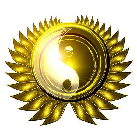 yin yang symbol on a white background Stock Photo
