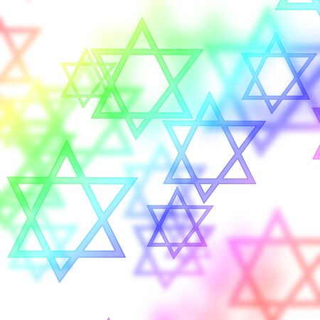 hannukah: stars of david on a white background