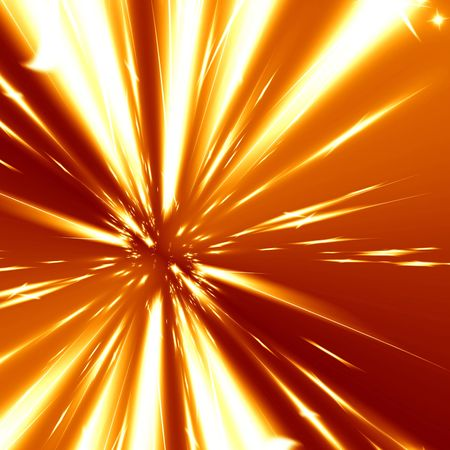implode: fire blast on a bright orange background