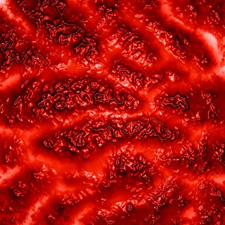 tejidos humanos o las venas en un fondo rojo Foto de archivo