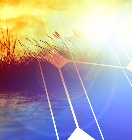 solar panel: clean energy, good for environment