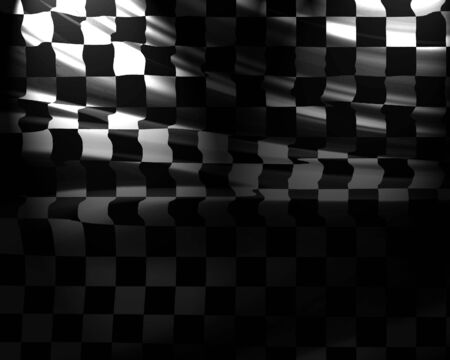 chequered flag: Checkered flag waving in the wind with some folds Stock Photo