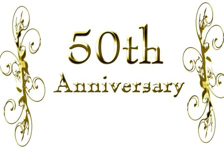 50th: 50th anniversary on a solid white background