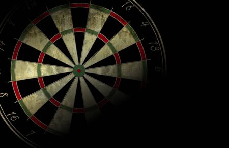 green board: grunge darts board on a black background