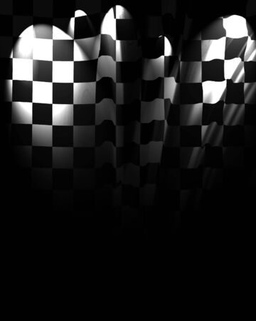the fastest: Checkered background fading into black with some folds in it Stock Photo
