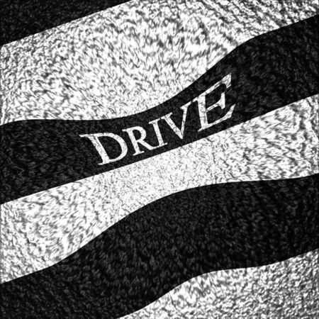 drive through: Asphalt background texture with some white stripes on it Stock Photo