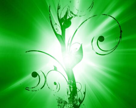 whirling: floral design on a soft green background