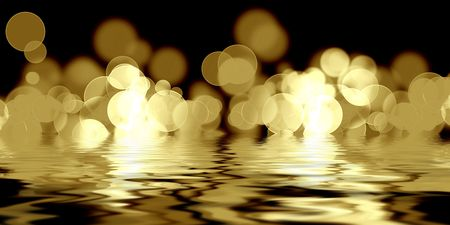 blurred lights on a solid black background