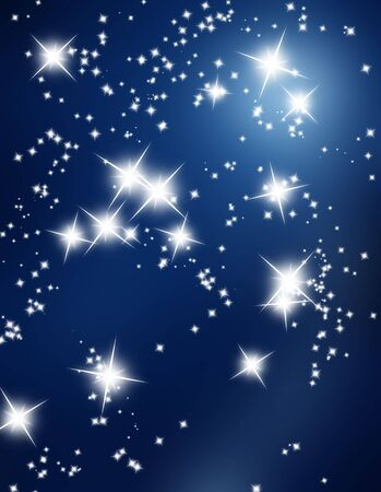 bright stars on a dark blue background Stock Photo - 5598694