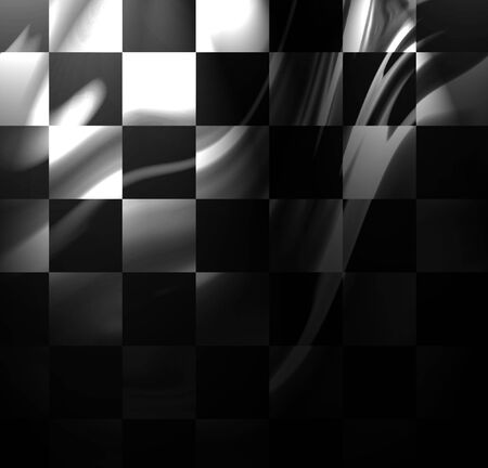 fastest: racing flag with some folds on it Stock Photo