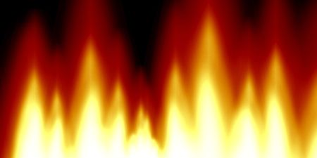 implode: abstract flames on a dark red background