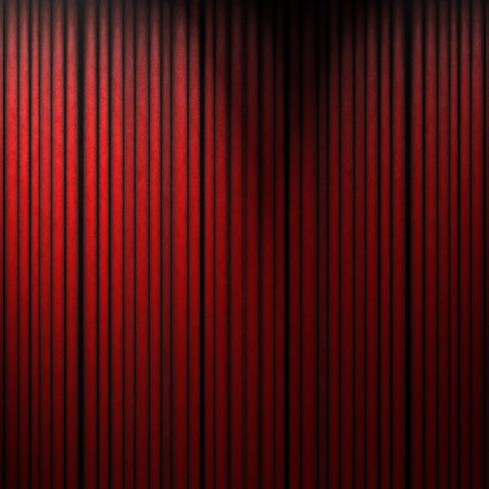 reveal: red movie or theatre curtain with some shades