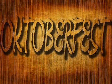 fest: oktoberfest written on a brown wooden texture