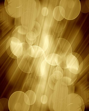 intense: blurred lights on a dark golden background