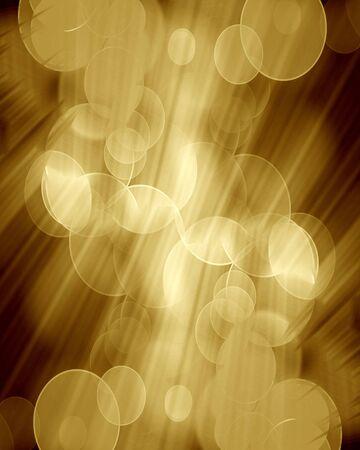 blurred lights on a dark golden background