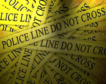 police investigation: collection of police lines with text Stock Photo - 5598672