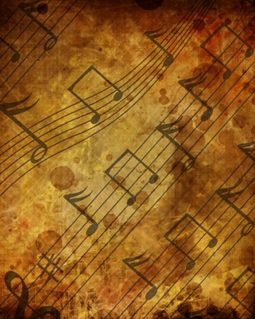 whirling: music sheet with some stains on it