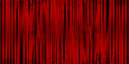 Long movie or theater curtain with dark shades photo