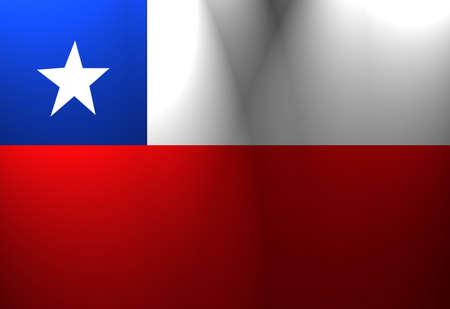 chilean flag: Chile bandera ondeando en el viento con foco de iluminaci�n  Foto de archivo