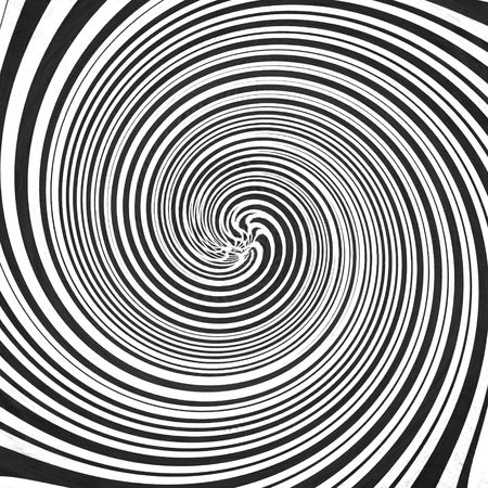 hypnotic: hypnotic black and white swirl: optical illusion Stock Photo