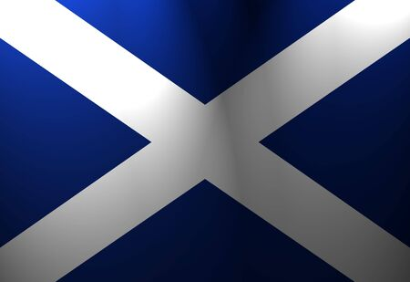 scottish flag: Scottish bandiera sventolare al vento con i riflettori