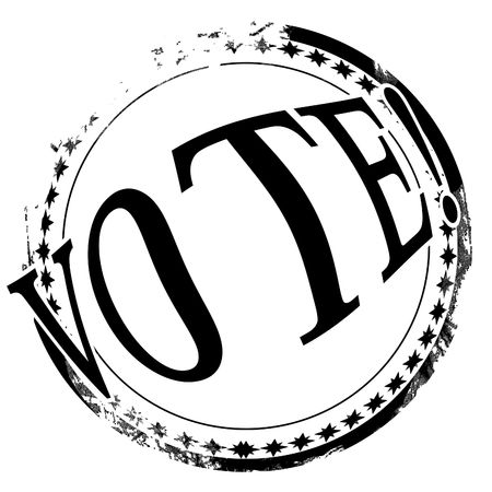 black stamp with vote written on it Stock Photo - 5659334