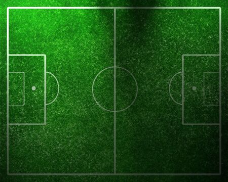 soccer fields: Soccer field with white lines on grass Stock Photo