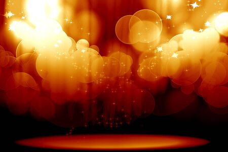 Curtain with spotlights on a red background Stock Photo - 5809017