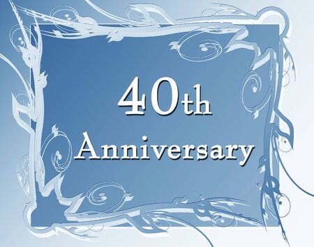 40th anniversary on a soft blue background photo