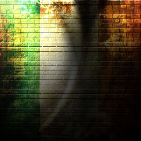 irish flag painted on a grunge brick wall Stock Photo - 5809323
