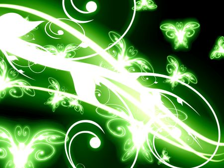 abstract butterflies on a soft green background photo