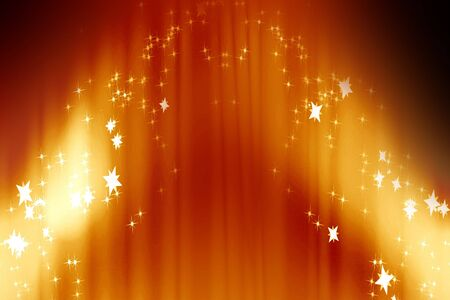 Curtain background with spotlights and some glitters photo
