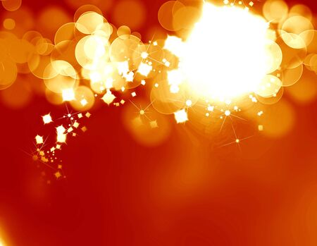 bright fireworks on a soft orange background Stock Photo - 5809192