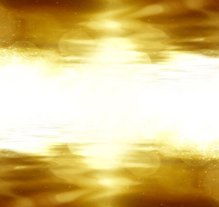 gold glitter on a dark yellow background photo