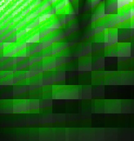 green it: abstract green background with some cubic features in it