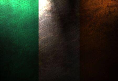 worn irish flag waving in the wind Stock Photo - 5809175