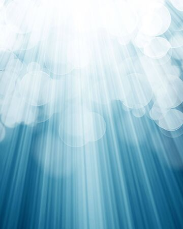 famous actor: bright spotlight on a soft blue background