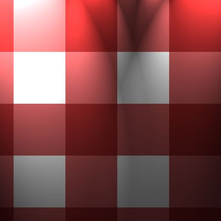 red picnic cloth texture with cubic features photo