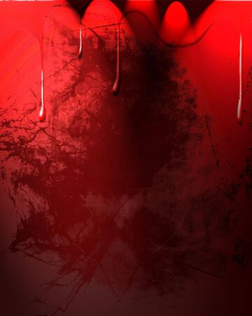 Blood drops on a dark red background photo
