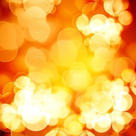 blurred: blurred xmas lights on an orange background