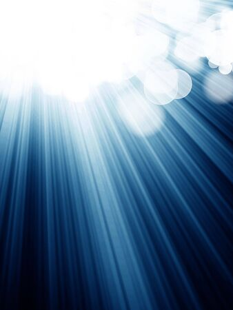 blurred lights: abstract blue spotlight on a dark background Stock Photo